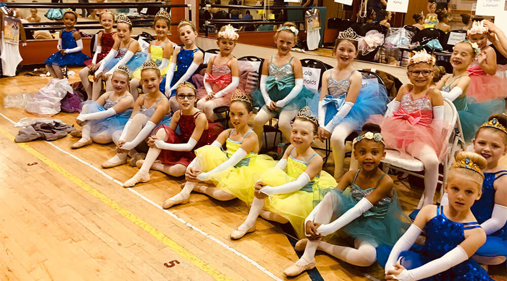 Dancers in princess costumes