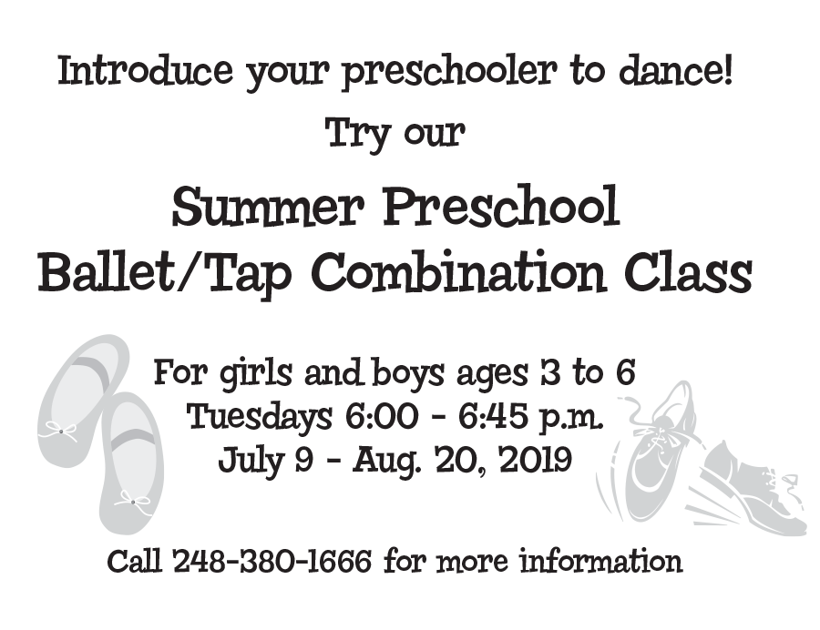 Ad for Summer Preschool Classes