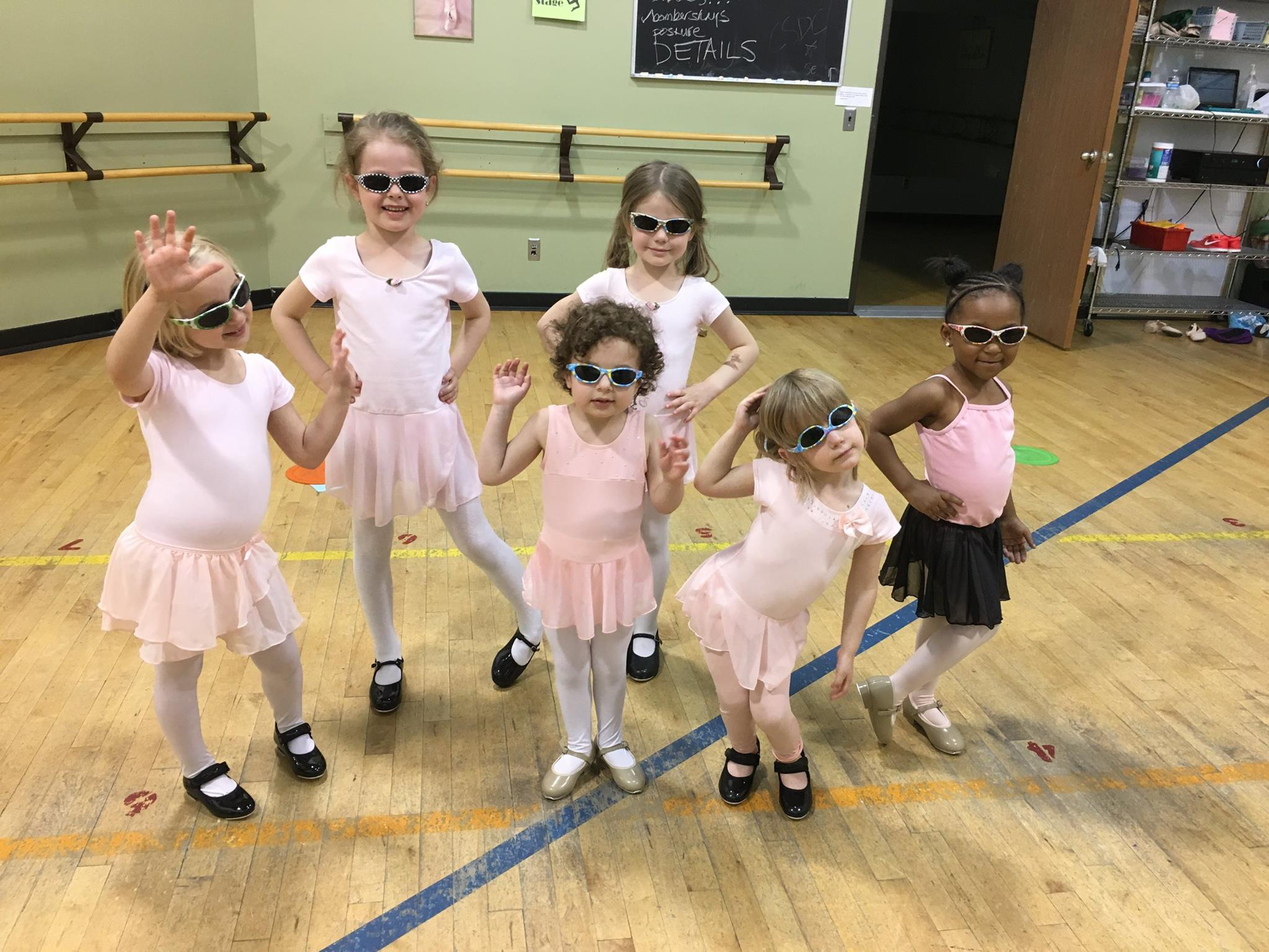 Pre-school dancers ready for summer dance classes